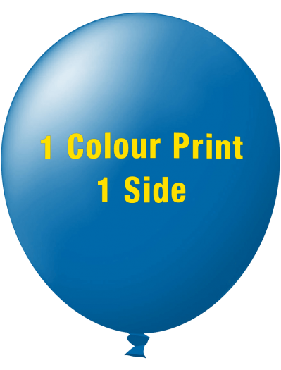 Custom Printed Balloons (30cm Standard, 1 colour print, 1 side)