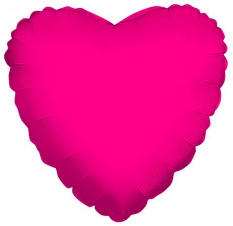 Heart Shaped Hot Pink Foil Balloon (45cm)
