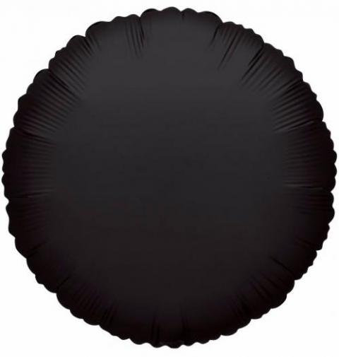 Round Black Foil Balloon (45cm)