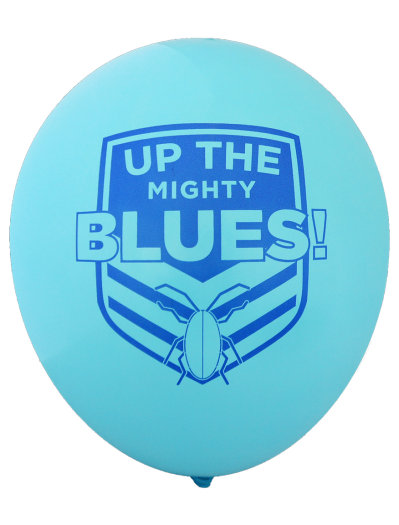 NSW State of Origin, 'Up The Mighty Blues' Balloons (30cm, 25pk)