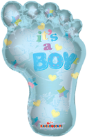 It's A Boy - Footprint Foil Balloon (91cm, single pk)