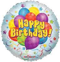 Happy Birthday Balloon Bunches Foil Balloon (45cm, single pk)