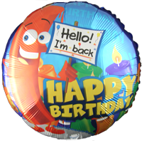 Big Candle Happy Birthday Foil Balloon (45cm, single pk)