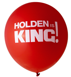 Holden Is King Balloons (30cm, 12pk)