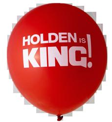 Holden Is King Balloons (30cm, 12pk)