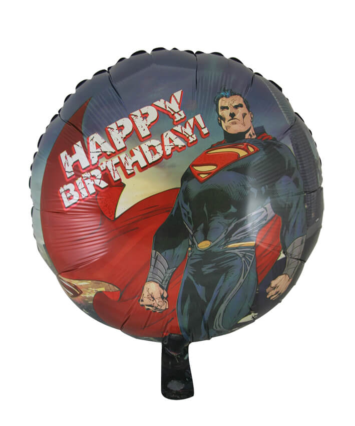 Superman Happy Birthday Foil Balloon (45cm, single pk)