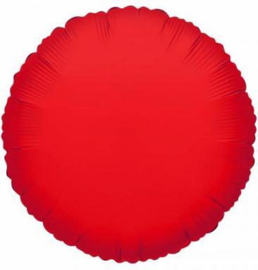 Round Red Foil Balloon (45cm)