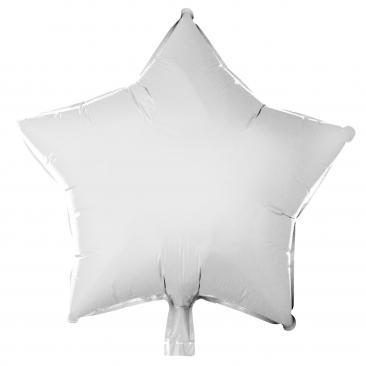 Star Shaped White Foil Balloon (45cm)