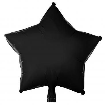 Star Shaped Black Foil Balloon (45cm)