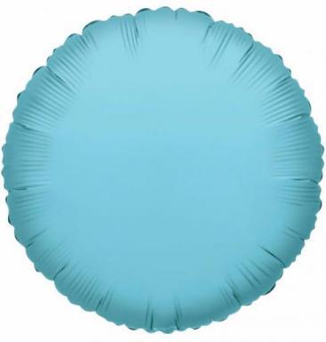 Round Baby Blue Foil Balloon (45cm)