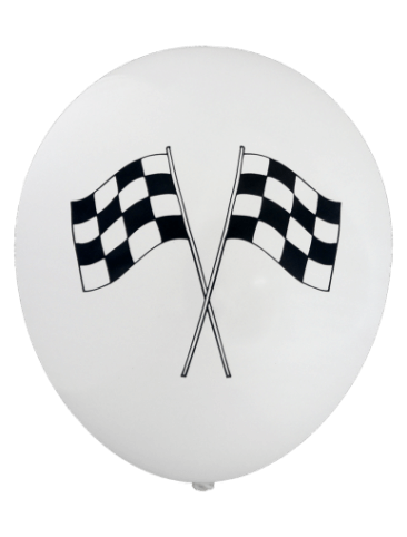 Chequered Flag Balloons (30cm, 12pk)