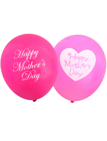 Assorted Happy Mother's Day Balloons (30cm, Mixed Pink and Fuschia, 12pk)