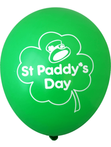 St Paddy's Day Balloons (30cm, 12pk)