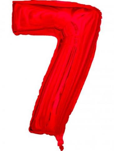 Red Number - 7 (86cm, single pk)