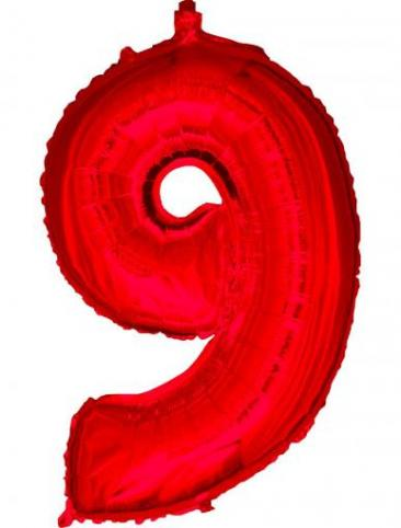 Red Number - 9 (86cm, single pk)