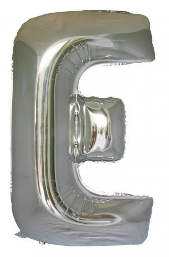 Letter E (86cm, Silver, single pk)