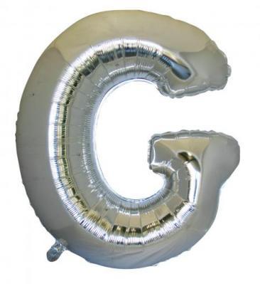 Letter G (86cm, Silver, single pk)