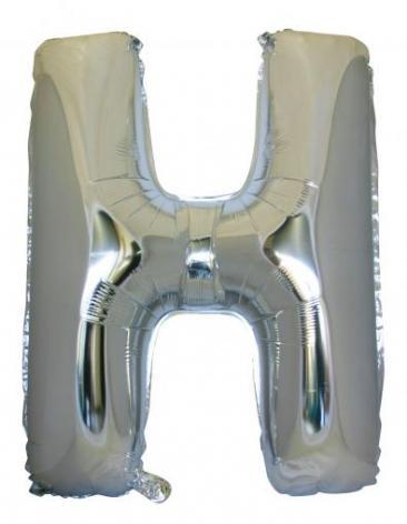Letter H (86cm, Silver, single pk)