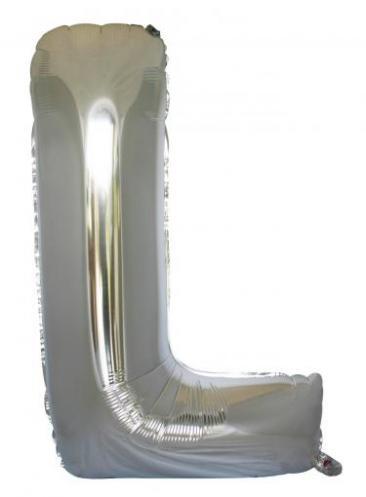 Letter L (86cm, Silver, single pk)