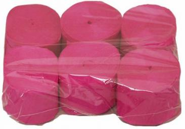 Crepe Streamer, 35mmx13m, Hot Pink, 6pk