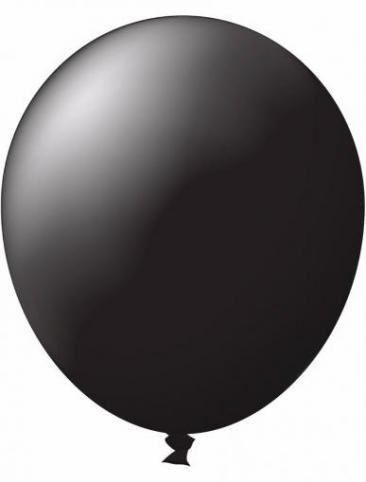 Unprinted Balloon -  Standard Black (72cm, single pack)