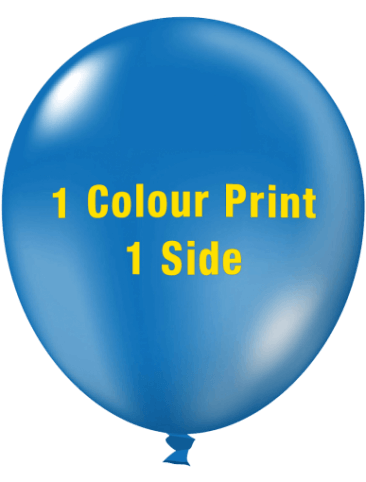 Custom Printed Balloons (30cm Crystal, 1 colour print, 1 side)