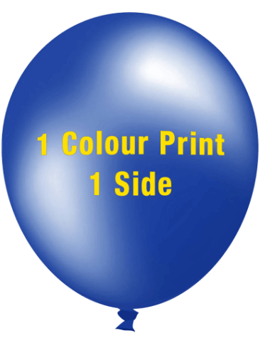 Custom Printed Balloons (30cm Metallic, 1 colour print, 1 side)