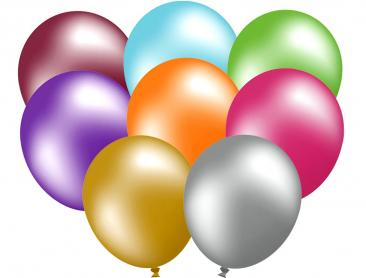 Unprinted Balloons - 30cm Metallic (packs of 100)