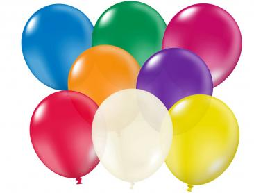 Unprinted Balloons - 30cm Crystal (packs of 100)