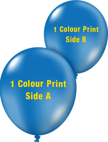 Custom Printed Balloons (30cm Crystal, 1 colour print, 2 sides)