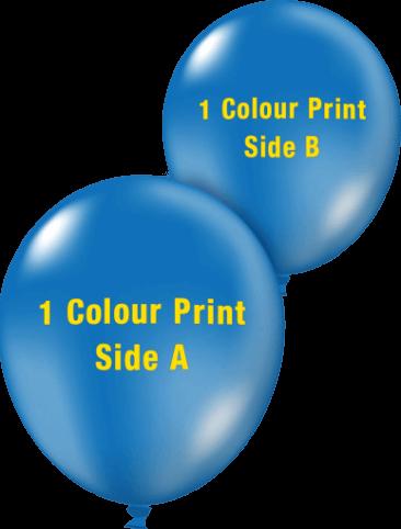 Custom Printed Balloons (30cm Crystal, 1 colour print, 2 sides)