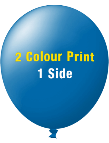 Custom Printed Balloons (30cm Standard, 2 colour print, 1 side)