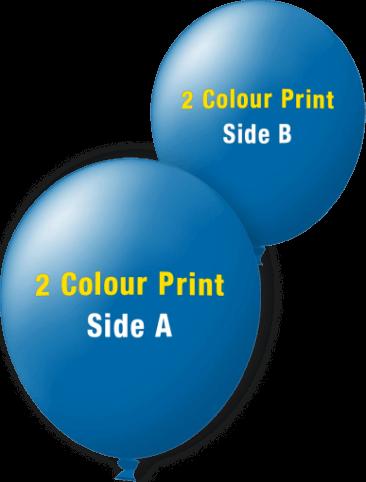 Custom Printed Balloons (30cm Standard, 2 Colour Print, 2 Sides)