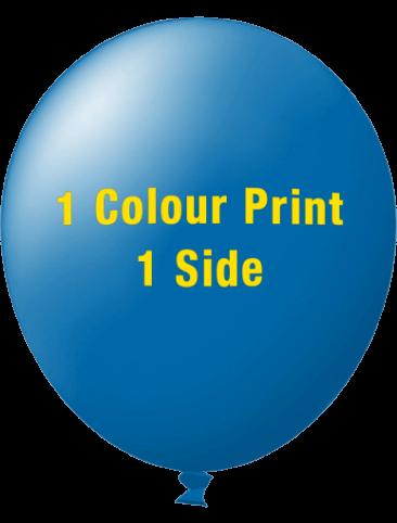 Custom Printed Balloons (40cm Standard, 1 Colour Print, 1 Side)